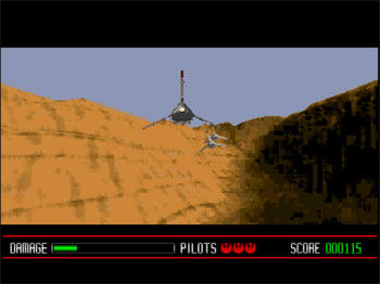 Pantallazo del juego online Star Wars Rebel Assault (3DO)