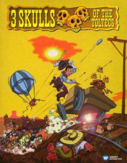 Portada de la descarga de 3 Skulls of the Toltecs CD (ScummVm)
