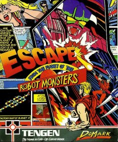 Portada de la descarga de Escape From The Planet Of The Robot Monsters