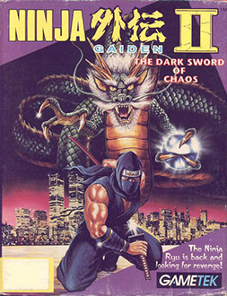 Portada de la descarga de Ninja Gaiden II: The Dark Sword of Chaos