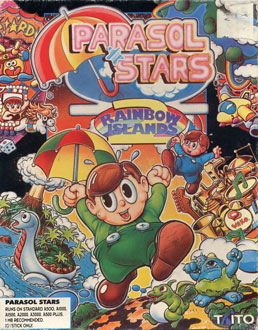 Portada de la descarga de Parasol Stars: The Story Of Rainbow Islands II