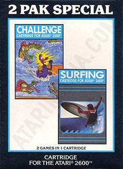 Juego online 2 Pak Special: Challenge & Surfing (Atari 2600)
