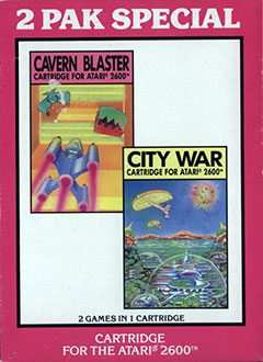 Juego online 2 Pak Special: Cavern Blaster & City War (Atari 2600)