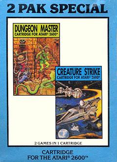 Juego online 2 Pak Special Dungeon Master & Creature Strike (Atari 2600)