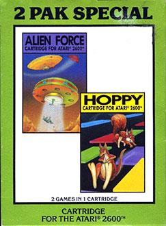 Juego online 2 Pak Special: Alien Force & Hoppy (Atari 2600)