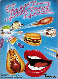 Juego online Fast Food (Atari 2600)