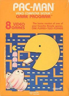 Carátula del juego Pac-Man (Atari 2600)