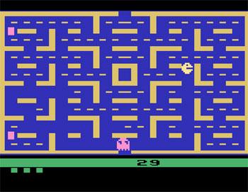 Pantallazo del juego online Pac-Man (Atari 2600)