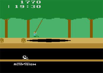 Pantallazo del juego online Pitfall (Atari 2600)