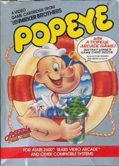 Carátula del juego Popeye (Atari 2600)