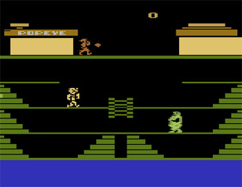 Pantallazo del juego online Popeye (Atari 2600)