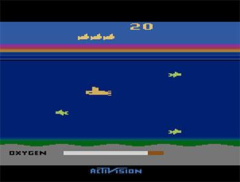 Pantallazo del juego online Seaquest (Atari 2600)