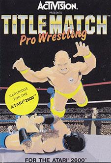 Carátula del juego Title Match Pro Wrestling (Atari 2600)