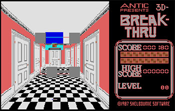 Juego online 3D Break-Thru (Atari ST)