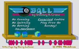 Carátula del juego 8 Ball (Atari ST)