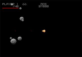 Pantallazo del juego online Asteroids Deluxe (Atari ST)