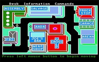 Pantallazo del juego online Auto Duel (Atari ST)