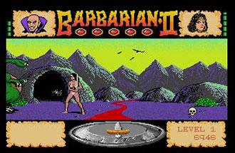 Pantallazo del juego online Barbarian II (Atari ST)