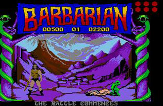 Pantallazo del juego online Barbarian The Ultimate Warrior (Atari ST)