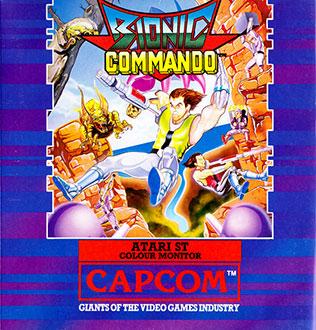 Carátula del juego Bionic Commando (Atari ST)