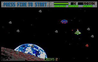Pantallazo del juego online Blasteroids (Atari ST)