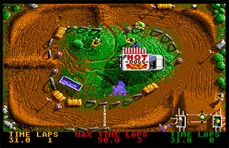 Pantallazo del juego online BMX Simulator (Atari ST)