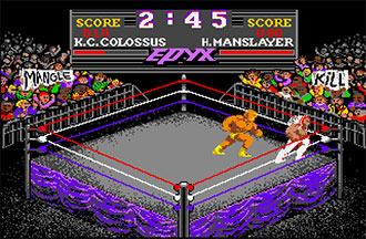 Pantallazo del juego online Championship Wrestling (Atari ST)