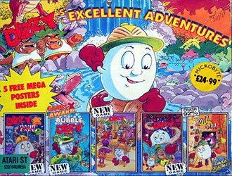 Portada de la descarga de Dizzy's Excellent Adventures