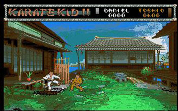 Pantallazo del juego online The Karate Kid Part II (Atari ST)