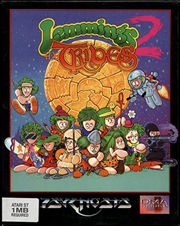 Portada de la descarga de Lemmings 2: The Tribes
