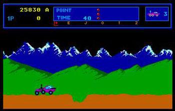 Pantallazo del juego online Moon Patrol (Atari ST)