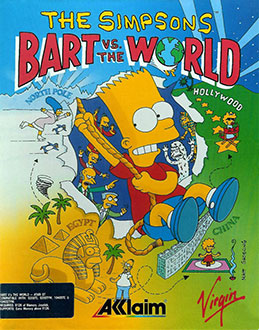 Juego online The Simpsons: Bart vs. The World (Atari ST)