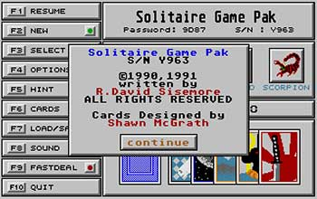 Juego online Solitaire Game Pack (Atari ST)