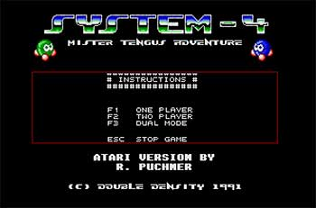 Portada de la descarga de System-4: Mister Tengus Adventure