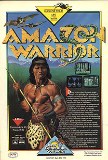 Juego online Amazon Warrior (C64)