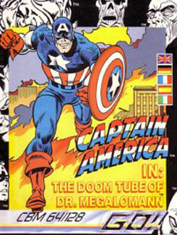 Juego online Captain America in: The Doom Tube of Dr. Megalomann (C64)