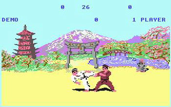 Pantallazo del juego online The Way of the Exploding Fist (C64)