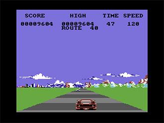 Pantallazo del juego online F40 Pursuit Simulator (C64)