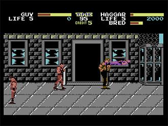 Pantallazo del juego online Final Fight (C64)