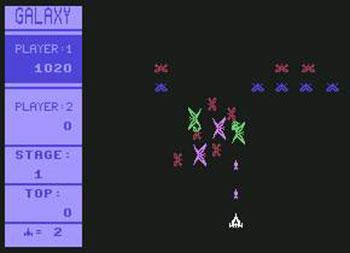 Pantallazo del juego online Galaxy (C64)