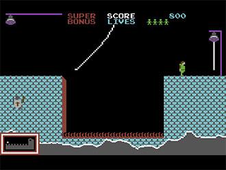 Pantallazo del juego online HunchBack (C64)