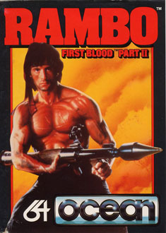 Juego online Rambo: First Blood Part II (C64)