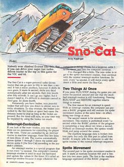 Juego online Sno-Cat (C64)