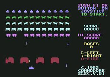 Juego online Space Invaders (C64)