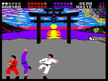 Pantallazo del juego online International Karate Plus (CPC)