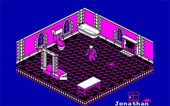 Pantallazo del juego online Nosferatu The Vampyre (CPC)