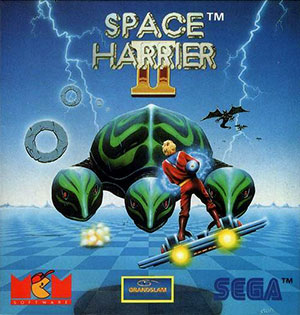 Portada de la descarga de Space Harrier II