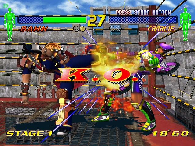 Pantallazo del juego online Fighting Vipers 2 (DC)