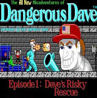 Portada de la descarga de Dangerous Dave's Risky Rescue