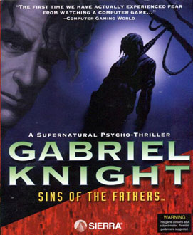 Carátula del juego Gabriel Knight Sins of the Fathers CD-ROM (PC)